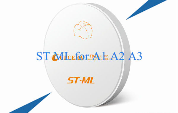 A1 A2 A3 Zirconium Oxide Ceramic Super Multilayer Translucent